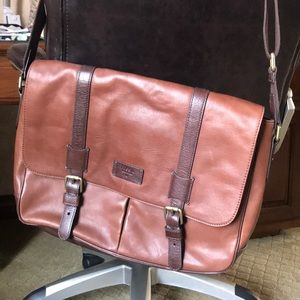 Leather Laptop bag by Fossil